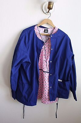 Mixed lot of scrubs blue and pink floral  medium Cherokee (12)