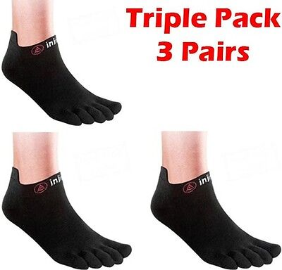 Injinji Run Lightweight Toe Socks Barefoot Running - 3 pairs pack 3 pack
