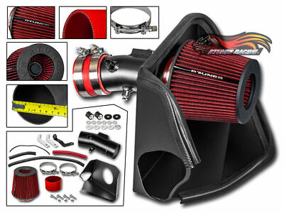 MATTE BLACK COLD AIR INTAKE + FILTER FOR NISSAN 07-12 Altima 3.5L V6 SE SL SR