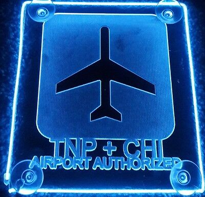 TNP + CHI sign Acrylic engraving with AA Controller light 3 mode