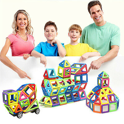 76pcs Magnetic 3D DIY Building Blocks Construction Kids Toys Similar Magformers