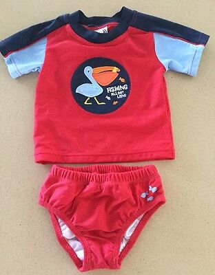 Baby Rashie And Swim Pants Set Size 000 BNWT