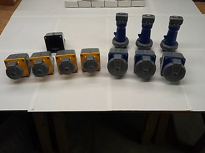 Lot of Hubbell Pin & Sleeve Plug Receptacle Devices and Boxes