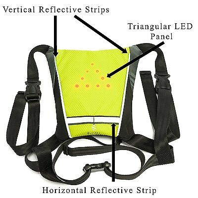 Soltekk-USB Rechargeable Flash LED Reflective Vest-Cycling-Camping-Hiking-Safety