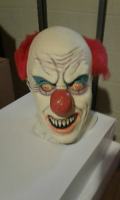Vintage Clown It Pennywise Collectors Halloween Mask by Death Studios Prop