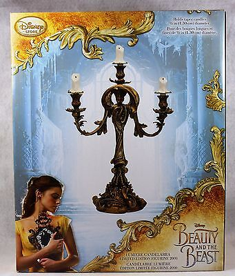Disney Store Beauty and the Beast Limited Edition Candle Stand Lumiere LE 2000
