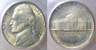 1983-D Pcgs Ms66 Jefferson Nickel