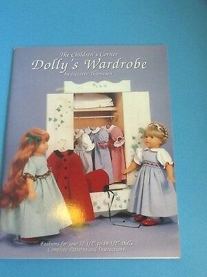 """Dolly's Wardrobe - Doll Clothes Patterns for 18"""" Dolls - Heirloom Styles - NEW"""