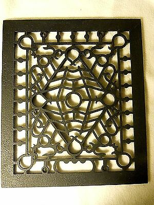 Antique Cast Iron Floor Grate-Matte Finish Floor Grate-VERY Decorative