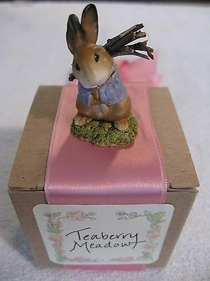 "Teaberry Meadow~Karalee A Fournier~1998~""timothy"" Bunny~Mint~In Original Box"