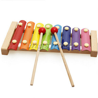 Kids Childrens Traditional Metal Xylophone Musical Music Toy Instrument