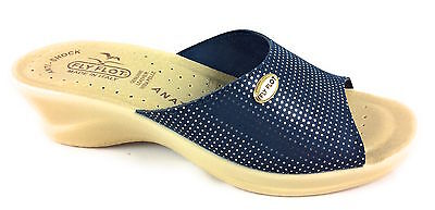 Ciabatte Donna Fly Flot 96157 2E Blu - Made In Italy