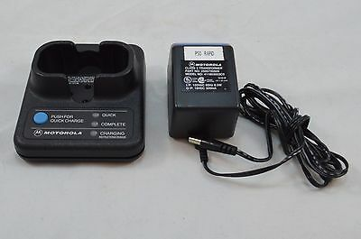 Motorola HTN9026C Battery Quick Charger & Adapter for Radio Walkie Talkie P50