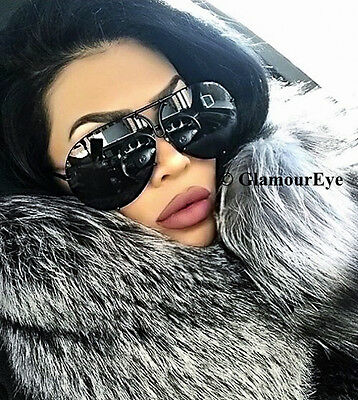 588ee289e4 LUX Oversized Large Porsh Studs Wire Metal Aviator Big Baddie Sunglasses  4163 XL