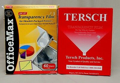 Transparency Film Lot Tersch for Copiers Office Max for HP Ink Jet Printers Open