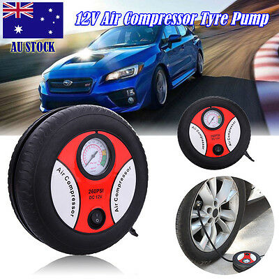 Portable Mini Air Compressor Auto Car Electric Tire Air Inflator Pump 260PSI 12V
