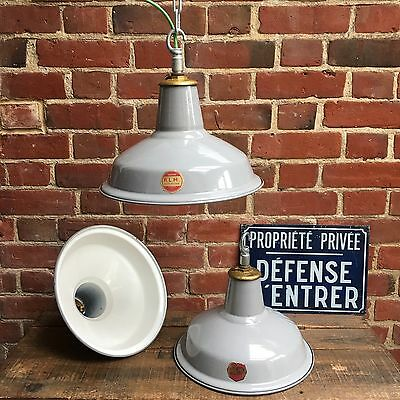 Industrial Vintage Reclaimed Rewired Benjamin Enamel Factory Light Shade