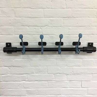 Industrial Vintage Reclaimed School Metal Number Coat Hooks Pegs