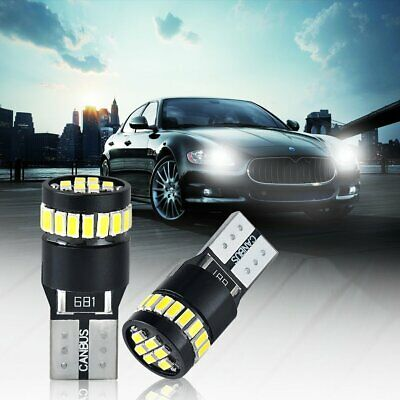 2x W5W T10 CANBUS ERROR FREE WHITE 24 SMD LED SIDELIGHT BULBS LAMP SUPER BRIGHT