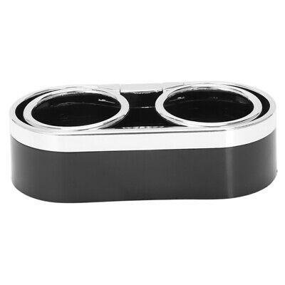Black Plastic Double Hole Cup Car Drink Bottle Can Holder Stand PK