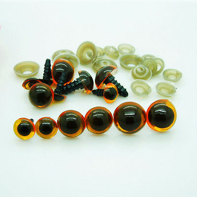 Plastic Safety Eyes Red/Brown Transparent  for Bear Amigurumi Dolls/Toy Crafts