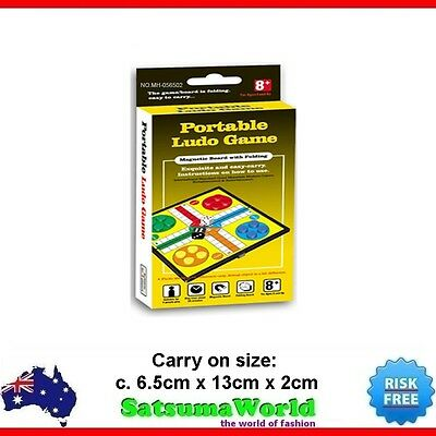 Portable Ludo foldable travel game magnetic board carry on design Family Fun