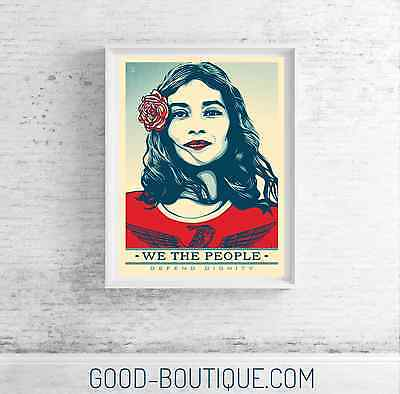 """Shepard Fairey・We The People・Defend Dignity・24""""x36"""" Offset Print・Not Signed・Hope"""