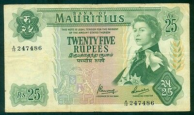 MAURITIUS - ND (1967) 25 Rupees aVF