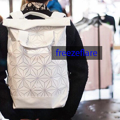 8b6b7328d2 Adidas Originals 3D Roll Top Backpack Tote Bag Issey Miyake Urban BJ9562  White