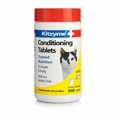 Bob Martin Kitzyme 300 Conditioning Tablets Cat Kitten Supplement Fishy Flavour