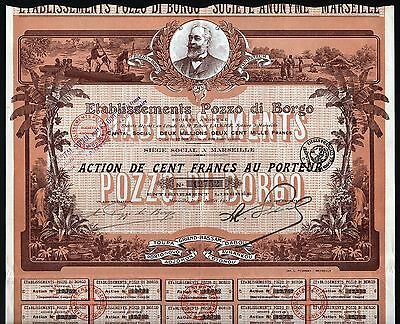 1913 Marseille, France: Pozzo di Borgo - French Colonization Company (Africa)