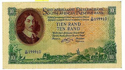 South Africa ... P-107b ... 10 Rand ... ND(1962-65) ... *VF*