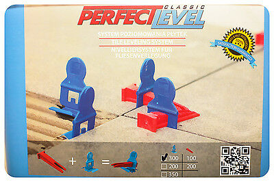 NEW!! Nivelliersystem PERFECT LEVEL, Keine RUBI,RAIMONDI 500 Klemmen+100 Keile