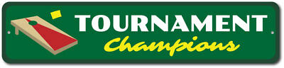 Tournament Champions Sign, Corn Hole Winners Gift, Bag Toss Party ENSA1002387