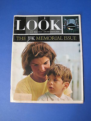 Vintage LOOK Magazine JFK Memorial Issue November 1964