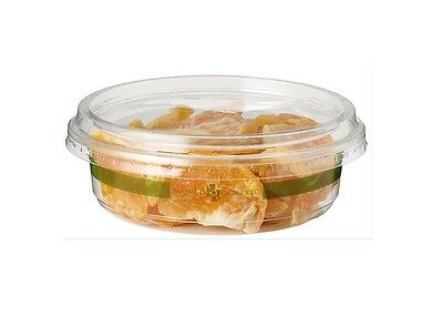 World Centric DC-CS-8, 8-Ounce Ingeo Clear Round Deli Containers, 1000-Piece Cas