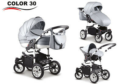 Modern Baby Pram Pushchair Stroller Buggy +CAR SEAT SWIVEL WHEELS  Travel System