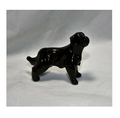 Art Blown Glass Murano Figurine Glass Dog Newfoundland