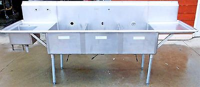 3 Compartment Sink w/Veggie Sink Reconditioned Commercial Restaurant Equipment