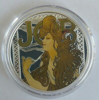 Alphonse Mucha 5 oz .999 Silver Coin DANCE #2 in Art Series Collection Limited