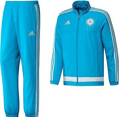 Adidas Olympique De Marseille Boys/girls Presentation Tracksuit Size.13-14 Yrs