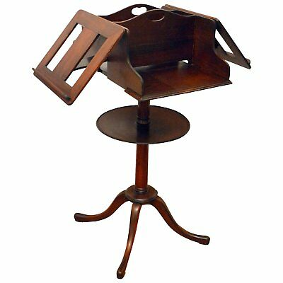 Antique Kittenger Mahogany Duet Adjustable Music Stand