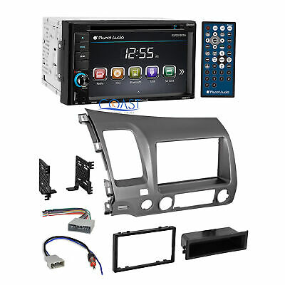 Planet Audio Car DVD Stereo 2 Din Taupe Dash Kit Harness for 06-11 Honda Civic