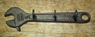 Cast Iron WRENCH Towel, Coat Hooks, Hat Hook, Key Rack Tool Carpenter MAN CAVE