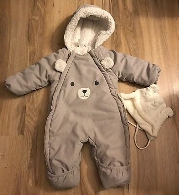 H&M Baby Bunting + Hat, Size 1-2 Months, EUC