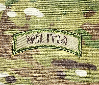 Militia Army Tab Rocker Tactical Camo Velcro® Brand Fastener Patch