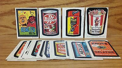 1974 Topps Wacky Packages 8th Series 8 Complete Set 30/30 ~ Kong Fu Dr. Popper
