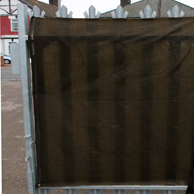 98% Shade Netting & used for Privacy & Windbreak Net Brown 1.5m per METRE length