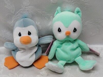 Precious Moments Blue Bird Owl Plush Tender Tails Tuft Special Limited Edition