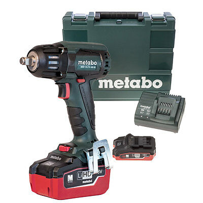 "18V LTX 5.5Ah Li-Ion 1/2"" Impact Wrench Kit O-B Metabo SSW18LTX400BL"